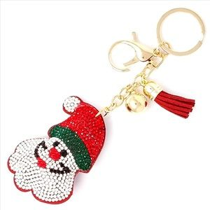 Accessories - 2/$25 Santa Puffy Purse Charm / Key Chain